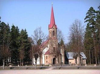 Ogre, Latvia - Ogre Lutheran Church, built 1930