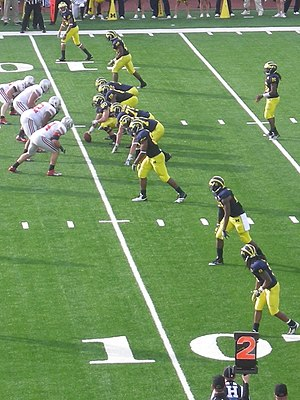 David Molk - Molk at center in the 2011 Michigan-Ohio State rivalry game