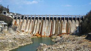Ōi Dam dam in Gifu Prefecture, Japan.