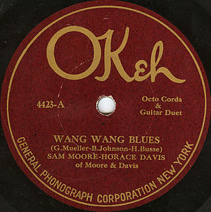"Okeh Records - ""Wang Wang Blues"", 1921"