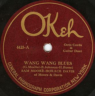 "Okeh Records - ""Wang Wang Blues"", 1921"