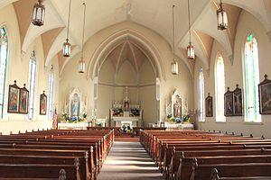 St. Patrick's Parish Complex - Interior of church