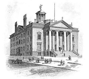 New York State Capitol - The Old State Capitol, in use from 1812 to 1879