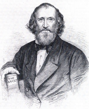 Thomas Wakley - Wakley in old age. Illustrated London News 1862