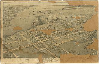 Gatesville, Texas - City in 1884
