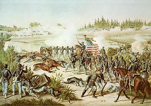 Battle of Olustee - Battle of Olustee by Kurz and Allison