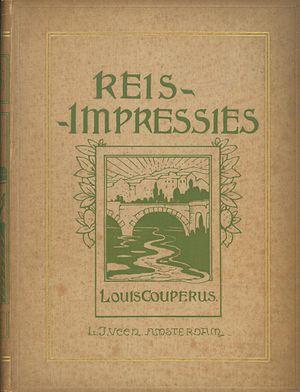 Karel Sluijterman - Image: Omslag van Reis impressies van Couperus K. Sluyterman