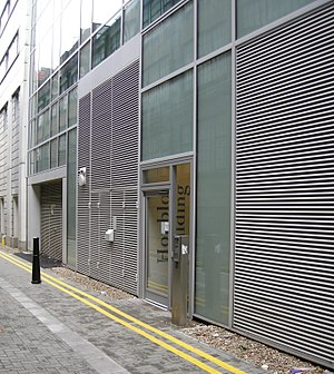 Relay Building - Entrance to Houblon Apartments in Tyne Street