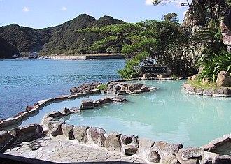Onsen - Roten-buro outdoor onsen at Nakanoshima in Nachikatsuura, Wakayama