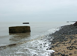 English: Oops - Cliff fall at The Naze Once up...