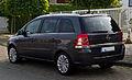 Opel Zafira (B, Facelift) – Heckansicht, 7. September 2013, Münster.jpg