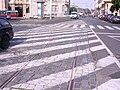 Opletalova, zbytek tramvajové trati u Senovážného náměstí.jpg