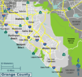 Orange county wikivoyage map.png