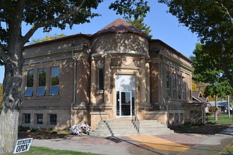 Eagle Grove, Iowa - The Eagle Grove Public Library building is listed on the National Register of Historic Places