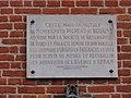 Origny-en-Thiérache (Aisne) maison natale de Mgr Behaine, plaque 1.JPG