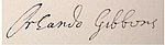 Signature from book by Edmund H. Fellowes[1]