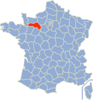 Communes of the Orne department - Image: Orne Position
