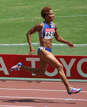 Athletics at the 1997 Mediterranean Games - Christine Arron won 200 m and relay gold medals for France.