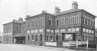 Cambrian Railways - Oswestry railway station and the company head office, circa 1921