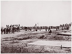 Outer Confederate Line at Petersburg. Captured by 18th Corps, June 15, 1864 MET DP70551.jpg