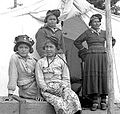 Outside tent - Innu - Mingan Quebec 1947.jpg