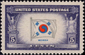 Overrun countries Korea flag stamp.png