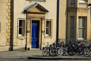 Oxford Internet Institute - Front door of the Oxford Internet Institute on St Giles, Oxford.