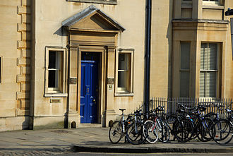 Oxford Internet Institute - Front door of the Oxford Internet Institute on St Giles, Oxford.