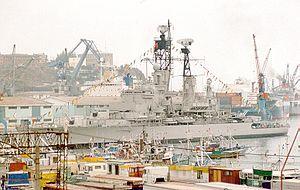 BAP Almirante Grau (CLM-81) - Image: PERU CM 81 2