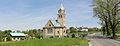 POL Simoradz Kościół EA i droga panorama.jpg