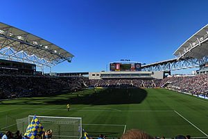 Talen Energy Stadium - Image: PPL Park Interior from the River End 2010.10.02 (cropped)