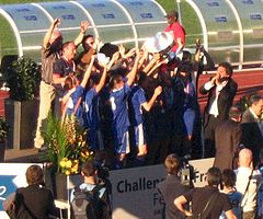 Le Paris SG remporte le challenge de France en 2010.