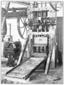 PSM V57 D274 Three stamp mill in the mining laboratory.png