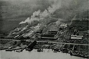 Pittsburg, California - Columbia Steel plant on Loveridge Road in Pittsburg, was established in 1910