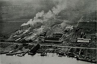 Pittsburg, California - Columbia Steel plant on Loveridge Road in Pittsburg, was established in 1910