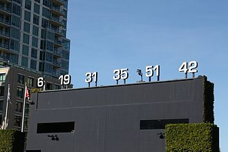 Steve Garvey - Padres retired numbers, including Garvey's No. 6, at Petco Park