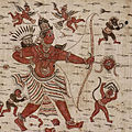 Painted cloth depicting a scene from the Ramayana.jpg