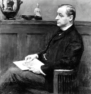 Charles L. Hutchinson - Photographic image of a painting of Hutchinson by the artist Gari Melchers
