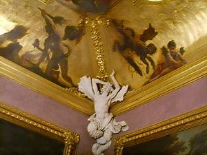 Palazzo Fenzi -  Detail of the decoration.