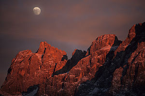 Pala group - Image: Pale di san martino tramonto