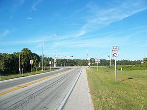 Florida State Road 29 - North end of State Road 29