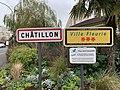 Panneau entrée Châtillon & Panneau Ville Fleurie Rue Pierrelais - Châtillon (FR92) - 2021-01-03 - 1.jpg