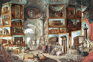 Picture gallery with views of ancient Rome (17...