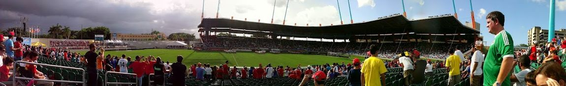 2012 A view of the stadium after the first phase of renovation.