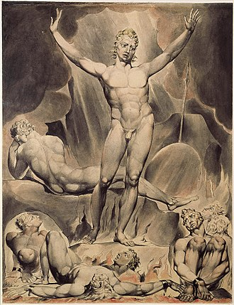 William Blake's illustrations of Paradise Lost - Image: Paradise L Butts 1