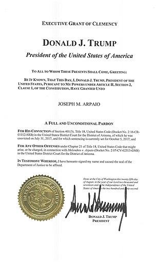 Pardon of Joe Arpaio - Wikipedia