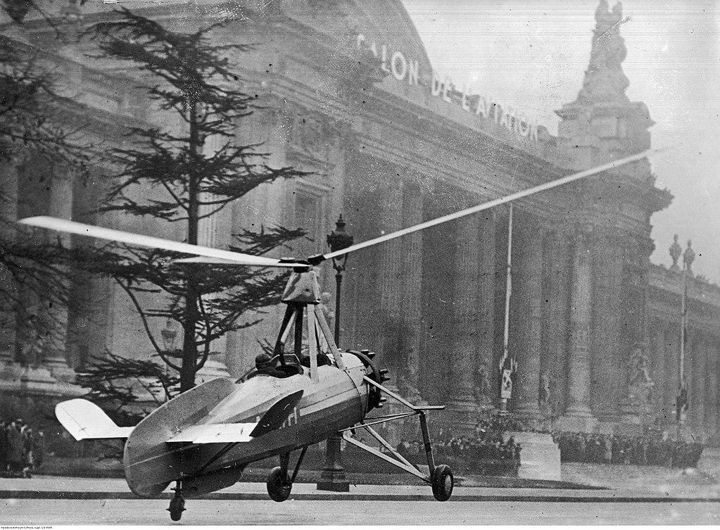 Autogiro de La Cierva, en el Paris Air Show (1934).
