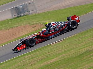 Comtec Racing - Pasquale Di Sabatino driving for Comtec at the Silverstone round of the 2008 World Series by Renault season.