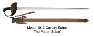 Model 1913 Cavalry Saber Cavalry sword designed for US military