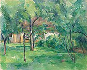 Paul Cézanne (1839-1906), Ferme en Normandie, été (Hattenville), oil on canvas (65.1 x 81.1 cm.). Painted in 1882. . Christie's.jpg
